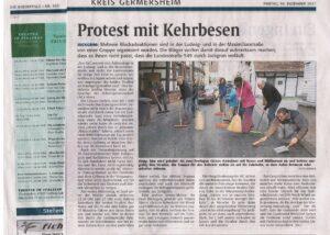 Bericht RP über die Protestaktionen der AG Altort in Maximilianstraße und Ludwigstraße